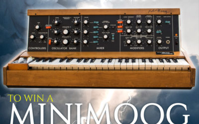 15th Anniversary Minimoog Raffle: Win A Vintage Minimoog Model D Signed by Bob Moog