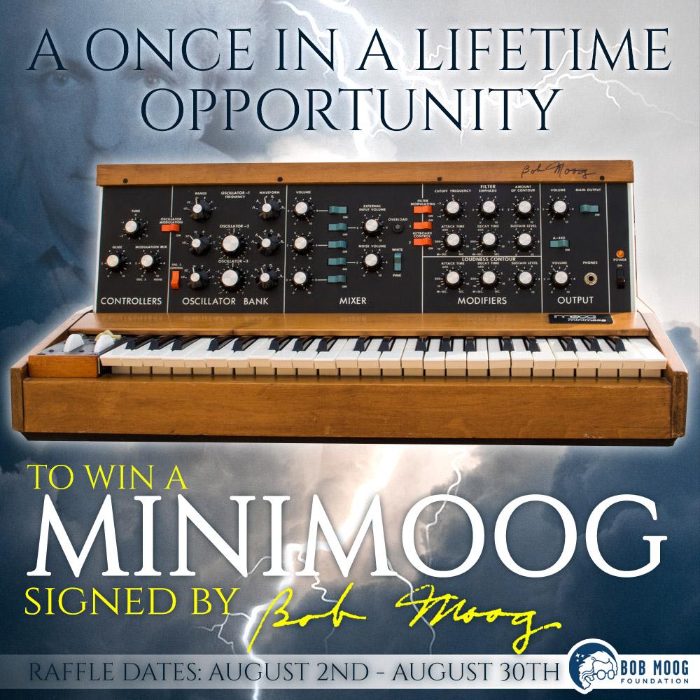 15th Anniversary Minimoog Raffle main graphic