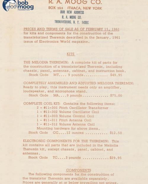 historical timeline of moog catalogs the bob moog foundation. Black Bedroom Furniture Sets. Home Design Ideas