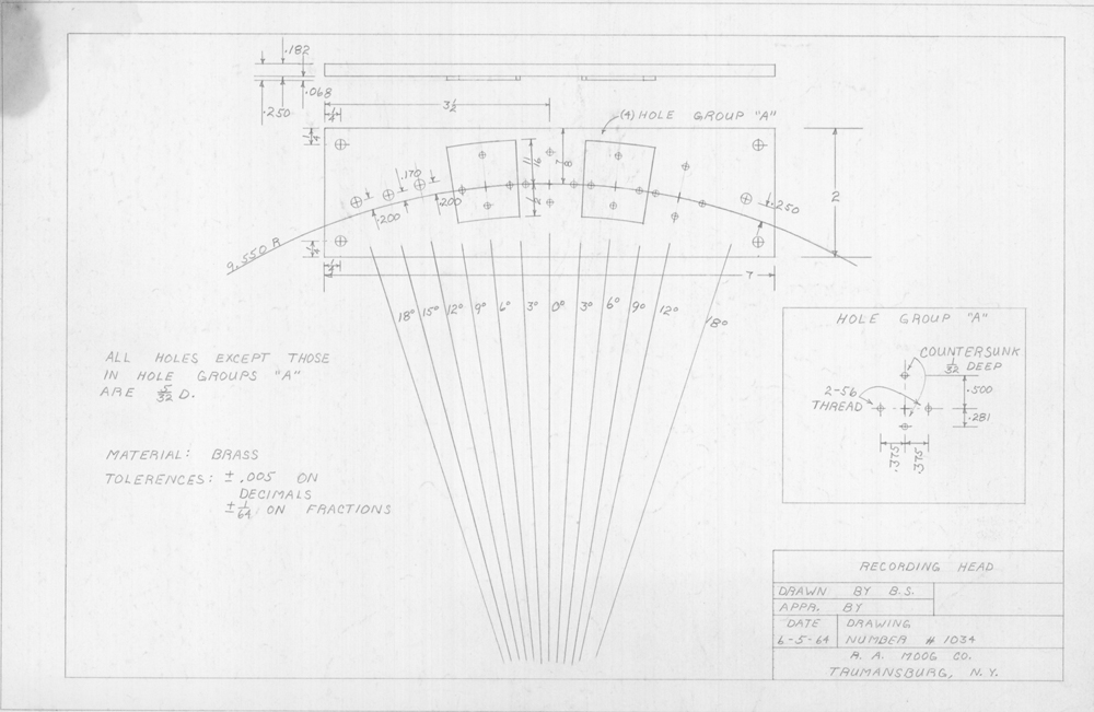 Bob Moog Schematics - The Bob Moog Foundation