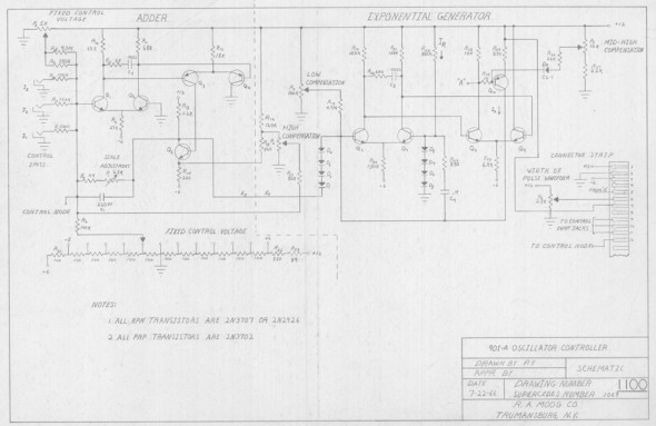 901 adder and exponential generator  this schematic lacks the name of