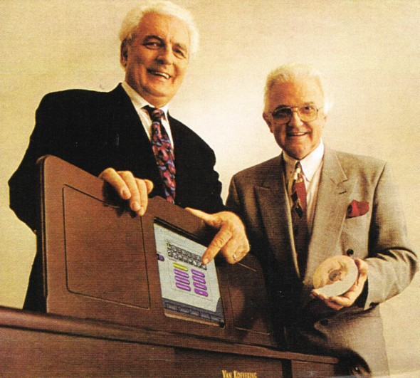 Bob Moog and David VanKoevering with the VanKoevering Piano