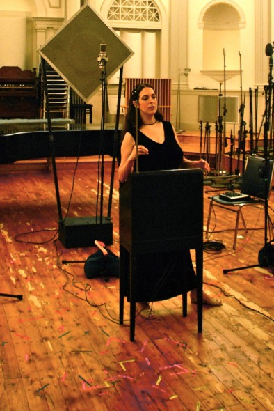 Dalit Warshaw Plays Clara Rockmore's Theremin In Recording Setting -- Courtesy Dalit Warshaw