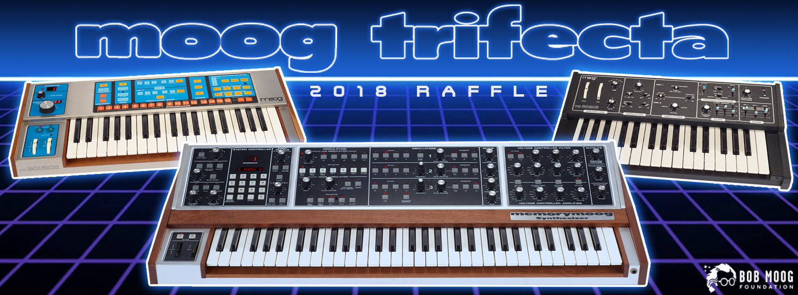 Announcing 2018 Moog Trifecta  Raffle: Memorymoog, Source, and Rogue