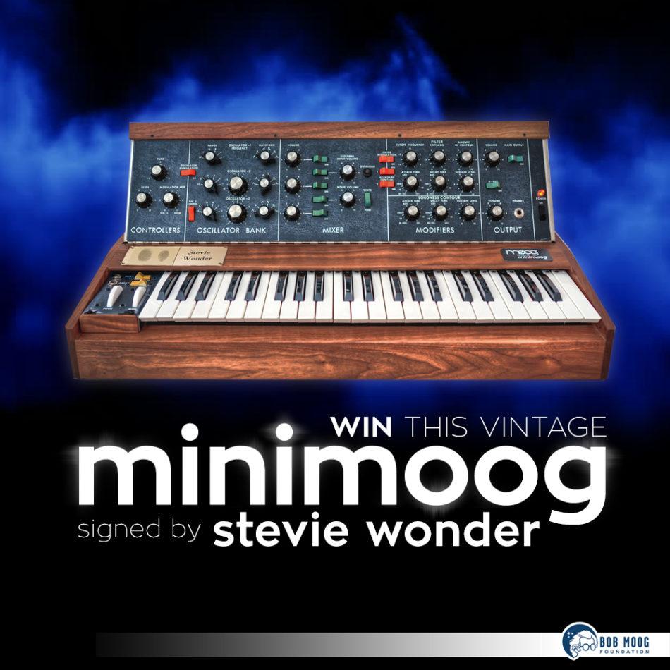 Moog Calendar February 2019 Announcing Spring 2019 Raffle for Vintage Minimoog Synthesizer