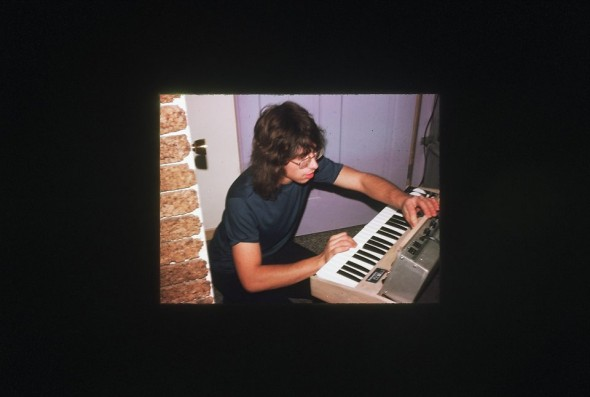 Wes Taggart, Halloween 1974, with his first Minimoog.