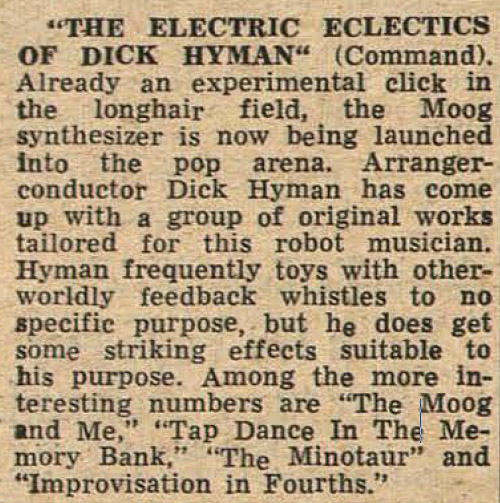 Review from Variety magazine, Jan. 29, 1969, p. 58.