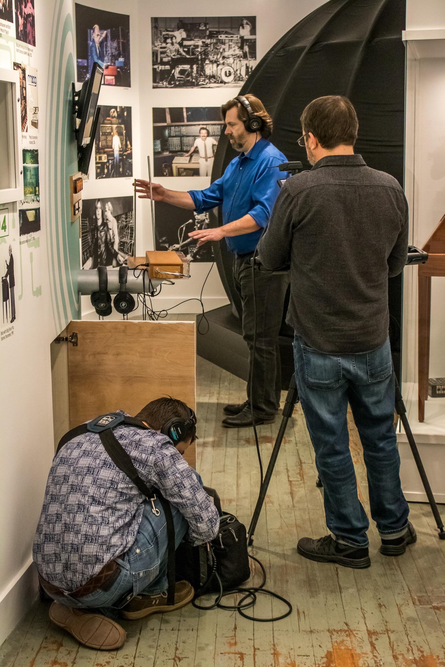 Moogseum PBS filming