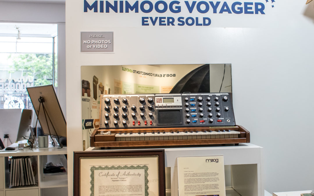 First Minimoog Voyager Ever Sold Now on Display In New Moogseum Exhibit