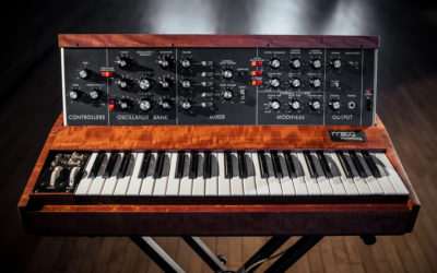 2021 Minimoog Raffle: Win A Vintage Minimoog Model D In Gorgeous Custom Cabinet