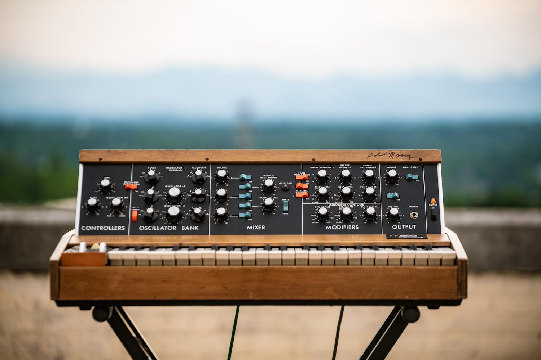 Minimoog Model D signed by Bob Moog