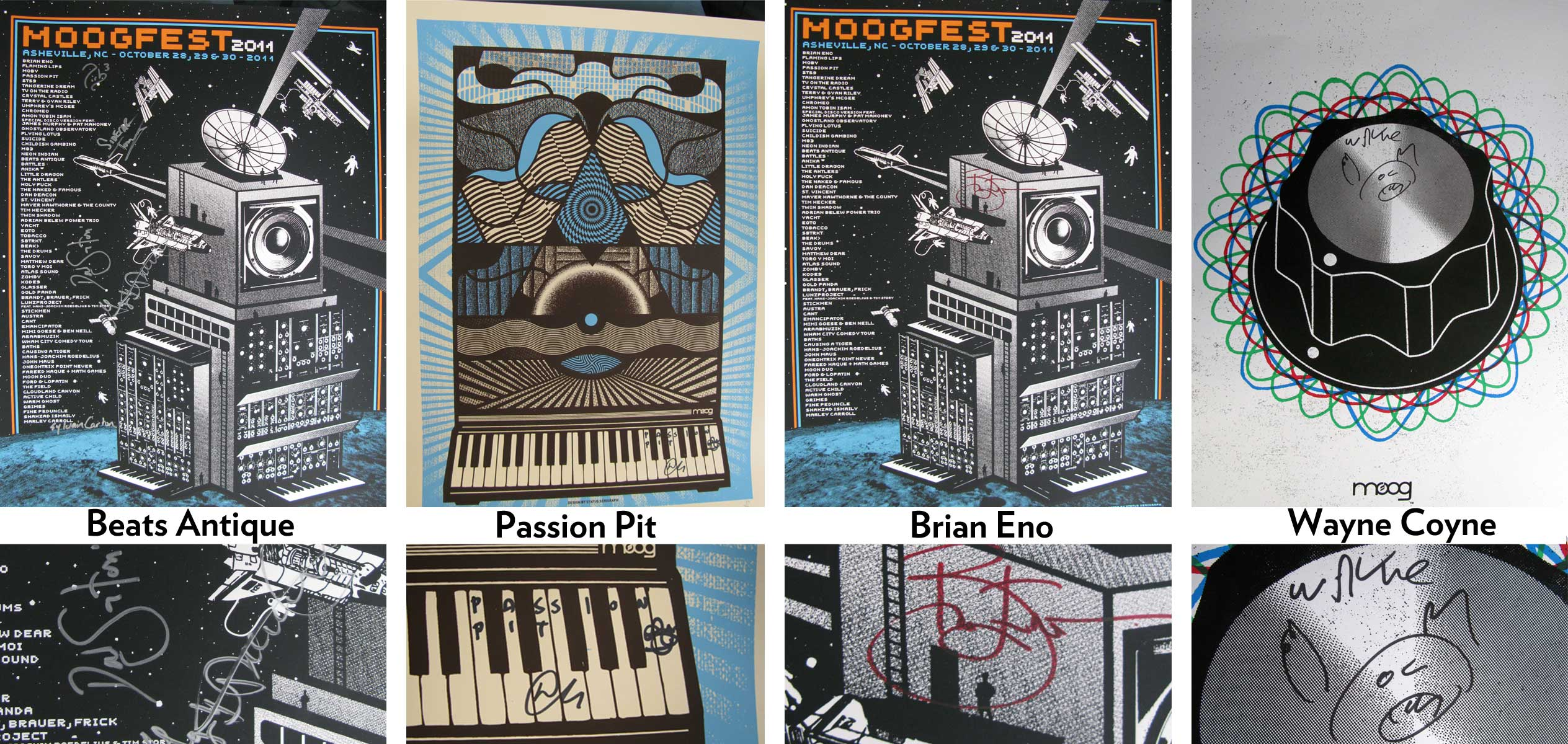 Moogfest posters autographed by legends and rock stars on eBay!