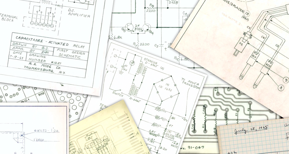 New discoveries from the Bob Moog Foundation Archives: more schematics, more history